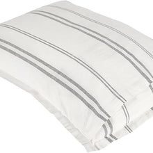 Amazon Brand – Rivet Maxwell Washed Stripe Duvet Cover Set, Full or Queen