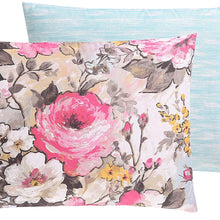VCNY Home Lucia Printed Floral Reversible, Full/Queen Duvet Set