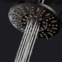 "AquaDance Oil Rubbed Bronze High Pressure 6-Setting 7"" Rain Shower Head – Angle Adjustable, Anti-Clog Showerhead Jets"