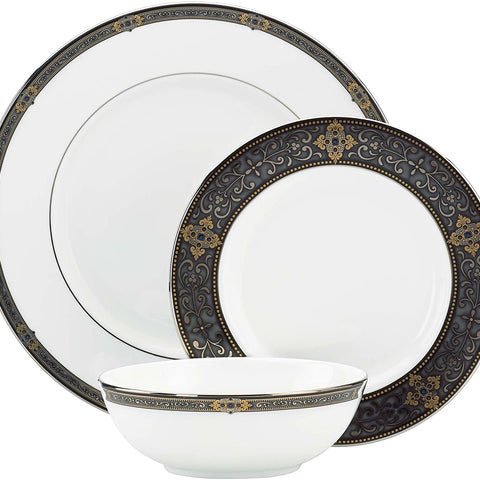 Lenox 104291602 Unisex Vintage Jewel 5 Piece Boxed Set White Dinnerware
