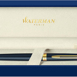 Waterman Hémisphère Rollerball Pen, Matte Black with 23k Gold Trim, Fine Point with Black Ink Cartridge, Gift Box