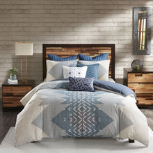 Ink+Ivy Nova 3 Piece Duvet Cover Mini Set Blue King/Cal King