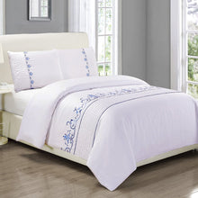 Superior Spring Blooms 100% Premium Cotton Twill Fabric King/Cal King Embroidered Duvet Set