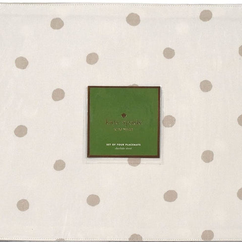 kate spade New York set of four flaxseed placemat 13 X 19 IN( 33 X 48CM)