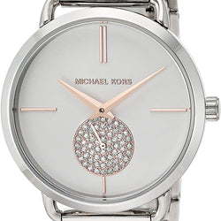 Michael Kors Women's Portia Watch- Three Hand Quartz Movement Wrist Watch with Second Hand subdial