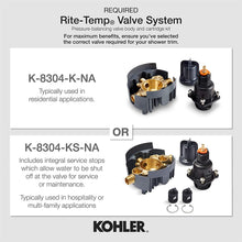 KOHLER K-TS396-4-2BZ Devonshire(R) Rite-Temp(R) shower valve trim with lever handle and 2.5 gpm showerhead, 1