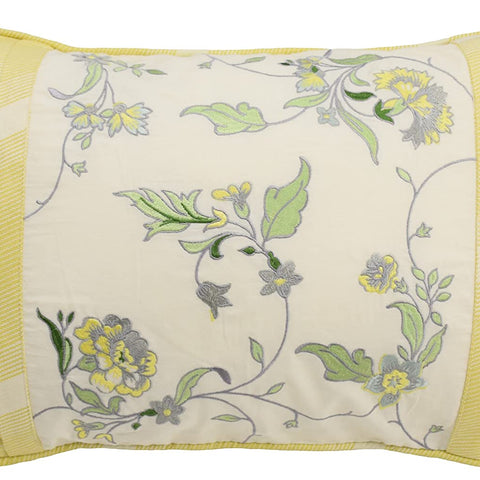 Waverly 15549014X020SPR Paisley Verveine 14-Inch by 20-Inch Embroidered Decorative Pillow