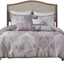 Madison Park Samir 6 Piece Duvet Cover Set, Purple, Full/Queen