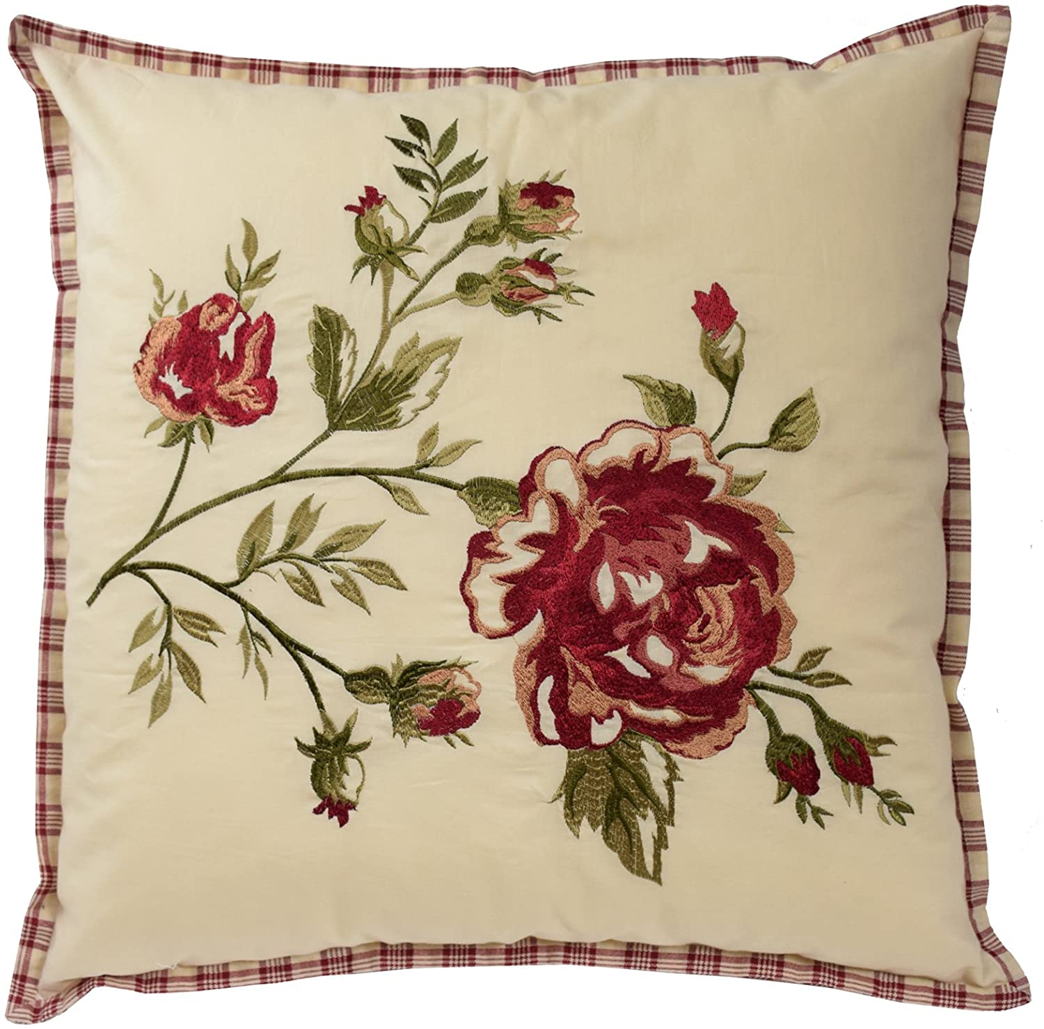 Waverly 14771020X020TSN Norfolk 20-Inch by 20-Inch Embroidered Decorative Pillow