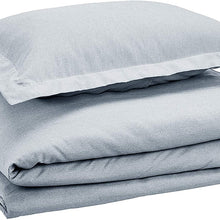 AmazonBasics Chambray Duvet Cover Bed Set - Twin or Twin XL