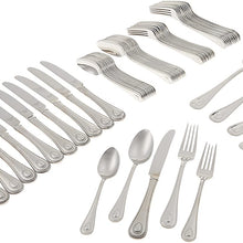 Lenox French Perle 65-piece Flatware Set, 10.95 LB, Metallic