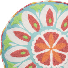 "WAVERLY Kids Wild Card Embroidered Round Accessory Pillow, 16"" x 16"", Multicolor"