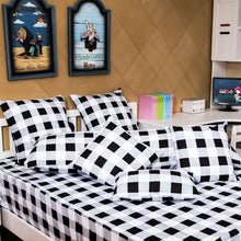 TEALP Buffalo Plaid Bedding Set Black and White Duvet Cover 3 Pieces Twin Size for Girls and Boys Room No Comforter No Bed Sheet