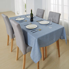 Deconovo Decorative Checkered Faux Linen Burlap Rectangular Table Cloth Waterproof Wrinkle Resistant Tablecloth for Restaurant 54x72 inch Gray