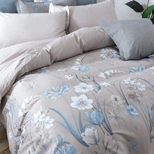 Eikei Cottage Country Style 3 Piece Duvet Cover Set Multicolored Roses Peonies Bouquet 100-percent Cotton Shabby Chic Reversible Floral Bedding (King