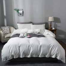 "Miffrovn Grey Washed Cotton Duvet Cover King(104""x90"") 3 Pieces (2 Pillowcases, 1 Duvet Cover)"