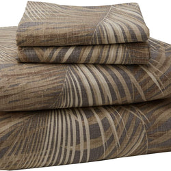 Tommy Bahama Raffia Palms Duvet Cover Set, Full/Queen, Brown