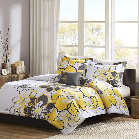 MI ZONE Allison Teen Duvet Covers, Ultra Soft Microfiber Girls Bed Sets, Full/Queen