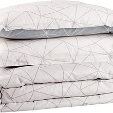 Amazon Brand – Rivet Triangle Geometric Cotton Duvet Cover Set - Full or Queen