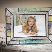 Square Picture Frames Colorful Glass 3x3 Photo Frame Table Top Blue Peach Purple Turquoise Home Decor Family Baby Gift J Devlin Pic 372-33