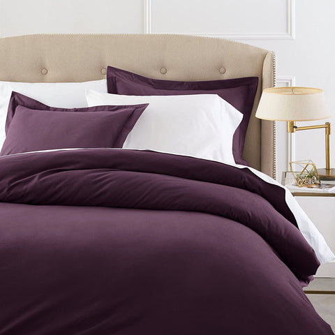 Pinzon Signature 190 Gram Cotton Heavyweight Velvet Flannel Duvet Cover Set, King