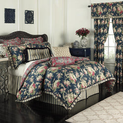 Waverly 14922BEDDQUEHTB Sanctuary Rose 96-Inch by 92-Inch 4 Piece Queen Comforter Set