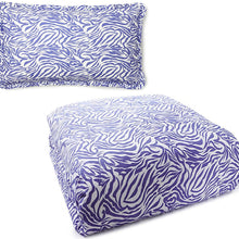 Be-You-tiful Home Zebra Twin Duvet Cover with Standard Sham, Lavender