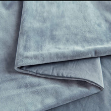 PHF Velvet Duvet Cover Set Luxurious Bedding Set Soft Solid Warm 3 Pieces with Corner Ties for Winter Heavyweight Queen Size Blue Greyish