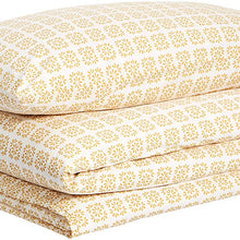 AmazonBasics Organic Percale Duvet Comforter Cover Set, Twin / Twin XL