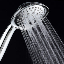 "AquaDance, Chrome Luxury Square 6-setting High-Pressure Hand Extra-Long 72"" Stainless Steel Hose, Bracket, Solid Brass Fittings, Finish. Premium Handheld Shower Head from Top American"