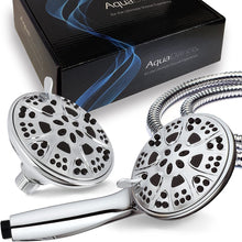 "AquaDance Chrome Giant 5"" 30 Mode 3-Way High Power Combo Shower Head & Handheld Separately or Together – Officially Independently Tested to Meet Strict US Quality & Performance Standards"