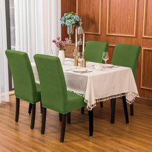 subrtex Jacquard Dining Room Chair Slipcovers Sets Stretch Furniture Protector Covers for Armchair Removable Washable Elastic Parsons Seat Case for Restaurant Hotel Ceremony (4