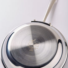 All-Clad D3 Stainless Cookware, 12-Inch Fry Pan with Lid, Tri-Ply Stainless Steel, Professional Grade, Silver