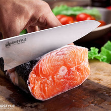 RIGSTYLE German Chef Knife 8 inch, High Carbon Stainless Steel, Sharp Blade with Ergonomic Handle for Professional Chefs, Restaurants & Home Kitchens, Meat, Fish, Chicken & Vegetables