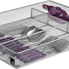 Cutlery Tray by Mindspace, 5 Compartments Kitchen Utensil Drawer Organizer | Silverware Tray | The Mesh Collection