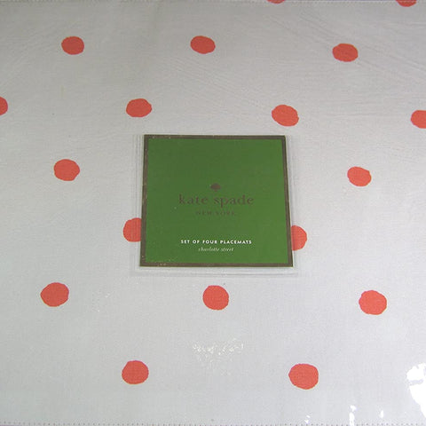 Kate Spade Charlotte Street Placemats, Set of 4, Hot Coral