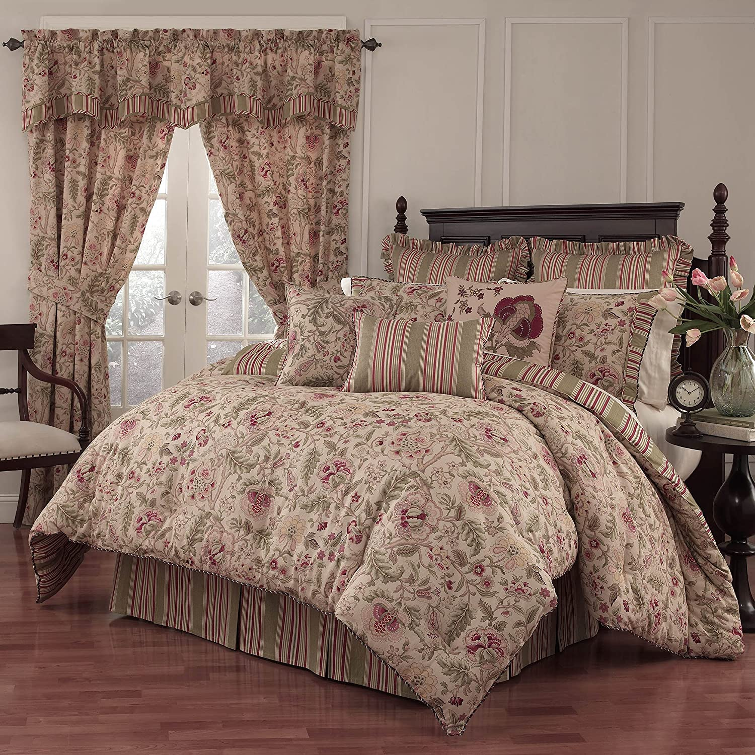 WAVERLY Imperial Dress Antique Comforter Set, 96x92