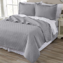 Home Fashion Designs 2-Piece All Season Quilt Set. Twin Size Quilt with 1 Sham. Soft Microfiber Bedspread and Coverlet. Emerson Collection (Pewter)