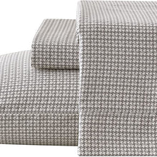 Brielle Houndstooth 100% Cotton Printed Duvet Cover Set, Full/Queen