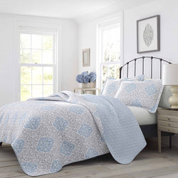 Laura Ashley Winnie Quilt Set, Full/Queen