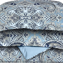 Superior Luxury Paisley Bedding, 100% Brushed Microfiber Duvet Cover Set with Shams, Silky Soft, Light Weight, and Wrinkle Resistant - King/California King Duvet