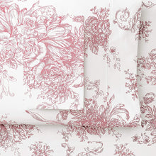 Mélange Home Melange Home, Mauve Toile 400 Thread Count Cotton Duvet Set
