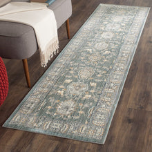 Safavieh Valencia Collection VAL112B Alpine and Mauve Vintage Distressed Silky Polyester Area Rug (5' x 8')