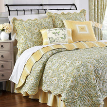 WAVERLY Paisley Verveine Reversible Quilt Collection, King