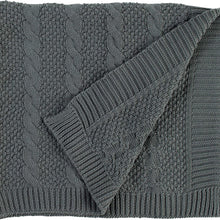 Amazon Brand – Stone & Beam Transitional Chunky Cable Knit Throw Blanket 100% Cotton