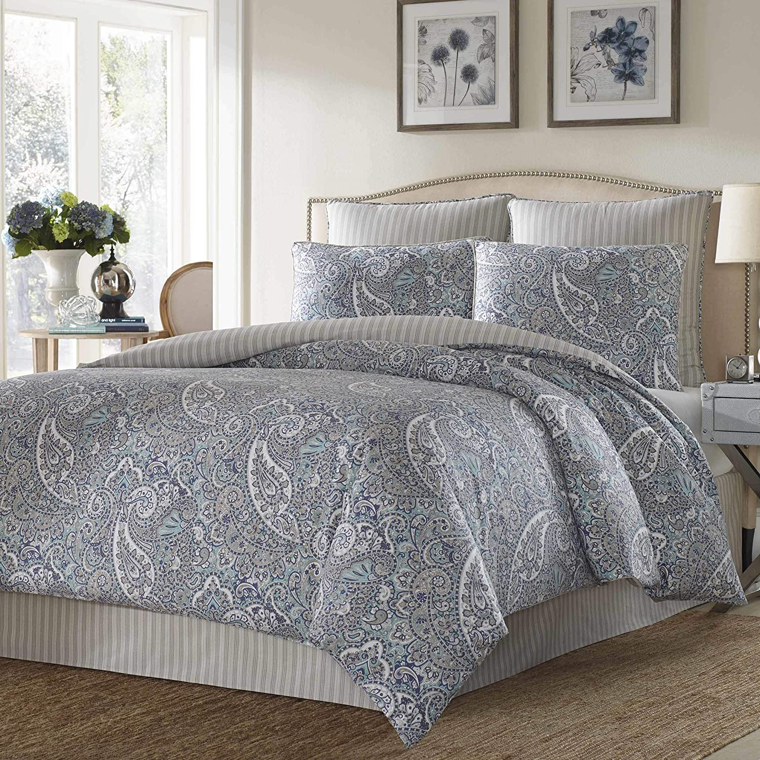 Stone Cottage Cotton Sateen Duvet Cover Set, Full/Queen, Lancaster