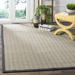Safavieh Natural Fiber Collection NF444A Herringbone Grey Brown and Grey Sisal Area Rug (8' x 10')