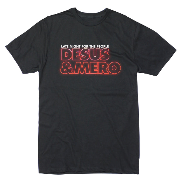 Desus & Mero DM Late Night Logo Adult Short Sleeve T-Shirt