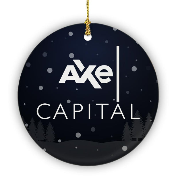Billions Axe Capital Stacked Logo Double Sided Ornament