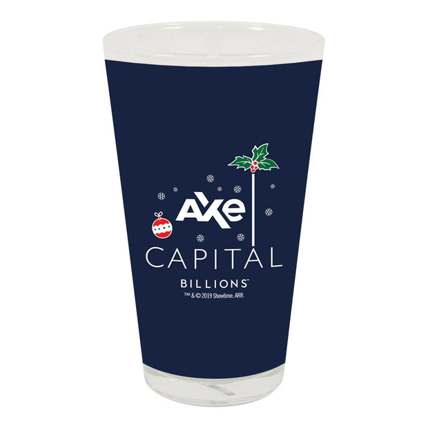Billions Festive Axe Capital Stacked Logo 17 oz Pint Glass